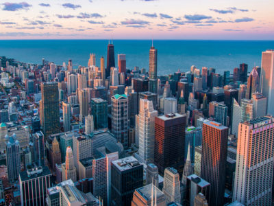 Chicago Skyline at twilight - real estate pocket listing