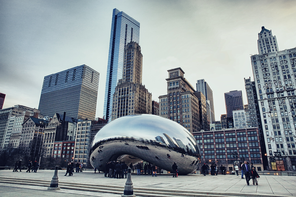 Chicago's Loop, Cloud Gate, Millennium Park